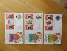 3 Tuvalu Royal Baby First Day Covers Princes Diana Signed by the Designers