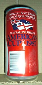 Collectable Coca Cola cans:  Australia's Defence - America's Cup 1987 can