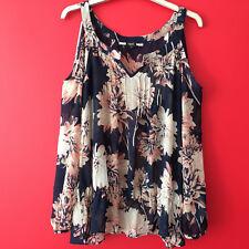Next Cold Shoulder Flower Print Lightweight Summer Chiffon Blouse Top Size 10
