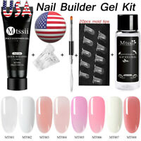 5Pcs/Set MTSSII 20ml Poly UV Nail Gel Quick Building Extension Mold Tips Brush