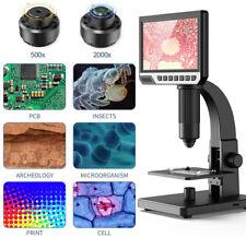 "2000X Digital Microscope with 7"" HD LCD Display USB Microscope Digital Magnifier"