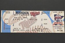 Cal Ripken Jr HOF 3000th Hit April 15 2000 Twins 4 vs Orioles 6 Full Ticket Mint