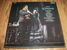 PUCCINI LA BOHEME TWO RECORD BOX SET BOTH NEAR MINT WITH MINT BOOKLET TOP AUDIO