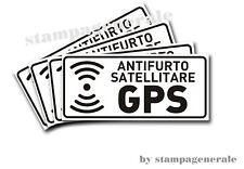5 ADESIVI ANTIFURTO SATELLITARE SPECCHIATO TRAKER GPS AUTO CAMPER CAMION MINIVAN