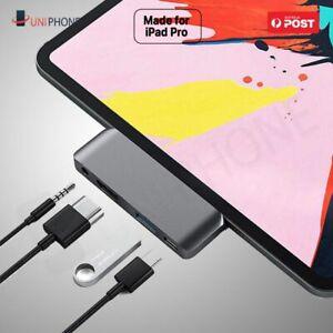 USB-C Hub 4K HDMI USB 3.0 Type C 3.5mm Earphone Jack Adapter iPad Air 4 Pro 2020