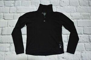 G STAR RAW sweater black cotton & cashmere cardigan L large MEN