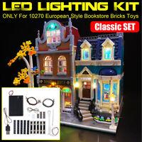 LED Light Lighting Kit ONLY For LEGO European Style Bookstore Bricks Toys   q