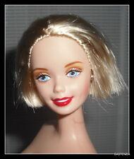 NUDE BARBIE (C) SHORT BLONDE HAIR BLUE EYES WINTER IN NEW YORK DOLL OOAK (C)