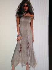 Womens Sexy ZOMBIE WALKING DEAD BRIDE Fancy Dress Costume Outfit