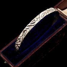 Antique Vintage Deco Sterling Silver Danecraft Calla Lily 7 mm Bangle Bracelet!