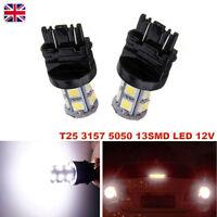 2X T25 3157 5050 13SMD LED 12V Car Tail Brake Stop Light Bulb P27/7W Rear Lamp