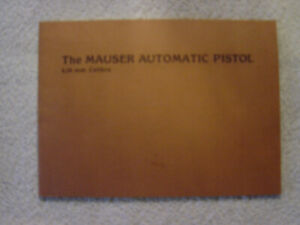 MAUSER AUTOMATIC PISTOL 6.35  instruction owner manual  Germany