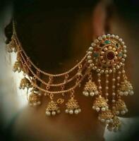 Bollywood Indian Gold Multi Jhumka Fashion Jhumki Bahubali Earring Women Jewelry
