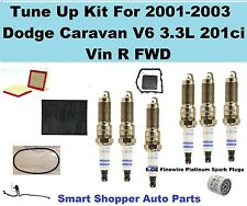 Tune Up Kit For 01-03 Dodge Grand Caravan Spark Plug, Air Oil  Fuel Filter, Belt