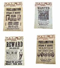 American Civil War Old West Replica Outlaw Posters Jesse James Billy The Kid Etc