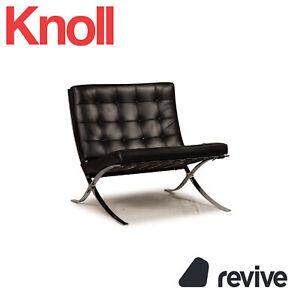 Knoll International Barcelona Chair Leder Sessel Schwarz by Ludwig Mies van der