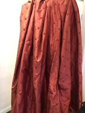 Cranberry Red Laura Ashley 100% Silk Curtains Lucille Fleece Lined Mtm & Ties
