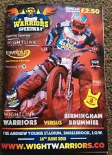 2018 ISLE OF WIGHT v BIRMINGHAM 28th JUNE      ( EXCELLENT CONDITION )