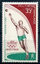 47TIMBRE POLYNESIE NEUF P.A. N° 26 ** JEUX OLYMPIQUES DE MEXICO 1968 COTE 20 €