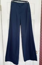 KITON WOMEN'S WIDE LEG LUXURY PANT. NAVY BLUE. SIZE 40. BRAND NEW + TAGS.