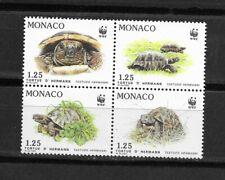 MONACO , Turtle issue in block MINT NH