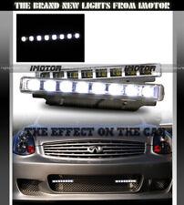 HI INTENSITY 7000K SLIM 8-LED DRL DAYTIME RUNNING BUMPER FOG LIGHTS