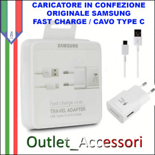 Alimentatore Samsung Originale Type C Fast Charge Note 8 S8 A3 A5 A7 2017 Plus +