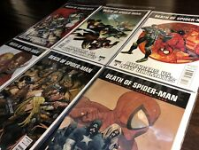 Death of Spider-man #1-6 FULL SET (Marvel 2011) Avengers Spider-Verse NEAR MINT+