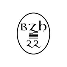 Autocollant 22 BZH drapeau Breton Sticker Breizh Bretagne logo 2 12 cm
