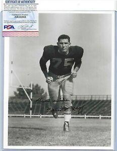 Forrest Gregg Green Bay Packers Football HOFer Autographed 8x10 Photo PSA COA