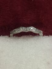 14 kt white gold diamond anniversary band Size 7