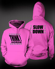 Hi-Viz Equestrian Kids Hoodie THINK HORSE / SLOW DOWN 4 Ultra bright colours