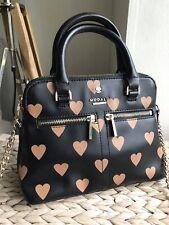 Modalu London small black heart handbag tote shoulder bag