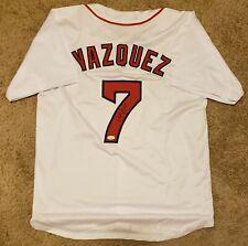 Christian Vazquez Signed Custom Jersey Boston Red Sox JSA Witnessed COA