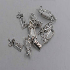 18pcs Antique silver plated little feeder charm pendant T0310