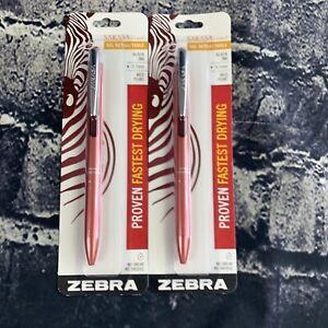 Zebra Sarasa Gel Retractable Pen Fine, 0.7 mm, Black Ink, Red Barrel Lot of 2