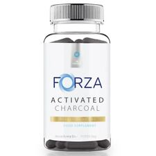 FORZA Activated Charcoal Capsules - Reduce Bloating Charcoal Tablets - 100 Caps