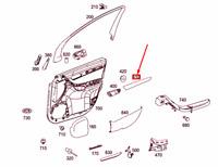 MERCEDES-BENZ R W251 Front Right Door Trim Strip A2517201822 NEW GENUINE