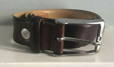 Roy Robson Germany Men's Brown Leather Belt Silver Buckle 95cm