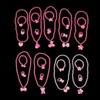 3Pcs Lovely Colorful Cartoon Children Girls Beads Necklace&Bracelet&Ring Set FR