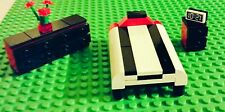 LEGO City CUSTOM Furniture Black Red BEDROOM - Bed Dresser Night Table - Modular