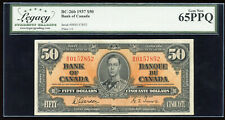 1937 Bank of Canada $50 Serial #B/H0157852 - Legacy Gem New 65 PPQ