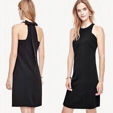 Ann Taylor - Woman's Size 0 (XS)  Black Bow Back Shift Dress $159.00 (H)