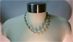 "SARAH COVENTRY 17"" Vintage Caged Faux Pearl Designer Necklace - Goldtoned"