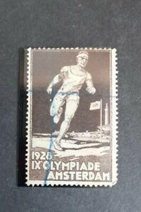 Cinderella poster stamp 1928 Netherlands. IX OLYMPIADE AMSTERDAM used