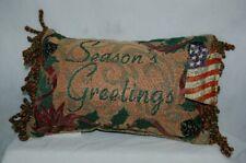 Manual Woodworkers Weavers Seasons Greetings Small Christmas Pillow