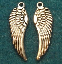 50Pcs. WHOLESALE Tibetan Silver WING Angel Feather Charms Earring Drops Q0222