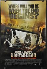 DIARY OF THE DEAD 2007 ORIGINAL 27X40 MOVIE POSTER MICHELLE MORGAN GEORGE ROMERO