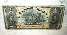 RARE 1898 Dominion of Canada One Dollar Bill, Ottawa March 31, Serial # 417967
