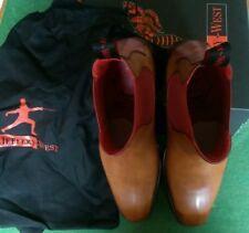 Jeffery West 'Horrorshow' Libertine tan leather boots size 7